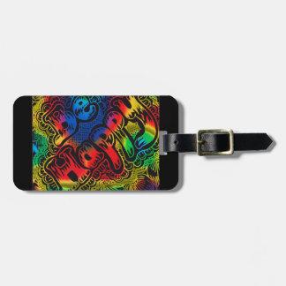 Seien Sie glücklicher Regenbogen Gepäckanhänger