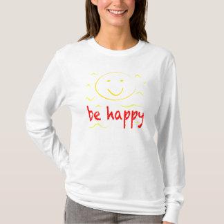 """""""seien Sie glücklicher"""" smiley T T-Shirt"""