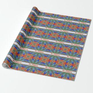 Seien Sie glückliches buntes Mosaik-Packpapier Geschenkpapierrolle
