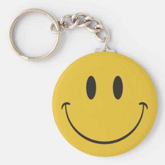 Seien Sie glückliches lächelndes emoji Standard Runder Schlüsselanhänger