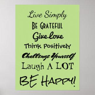 Seien Sie glückliches Plakat