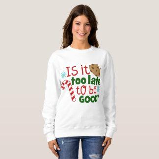 Seien Sie gutes Weihnachtswort-Kunst-Sweatshirt Sweatshirt