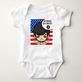 Seien Sie heftige Babykleidung Baby Strampler
