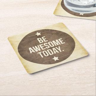 Seien Sie heute fantastisch Rechteckiger Pappuntersetzer
