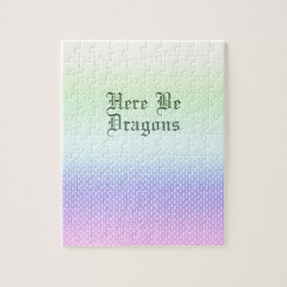 Seien Sie hier Drachen, Regenbogen-Muster Puzzle
