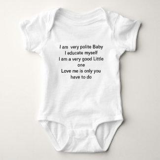 Seien Sie höfliches Baby T-Shirts