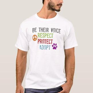 Seien Sie ihre Stimme - Respekt, schützt sich, T-Shirt