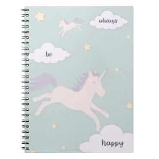 Seien Sie immer glückliches Notizbuch Spiral Notizblock