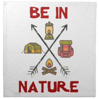 Seien Sie in der Natur Serviette