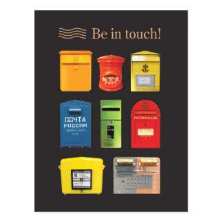 Seien Sie in der Touch! Postkarte