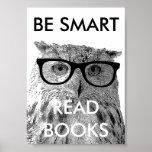 Seien Sie intelligentes gelesenes Buchplakat mit l