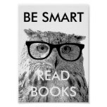 Seien Sie intelligentes gelesenes Buchplakat mit l Plakatdrucke
