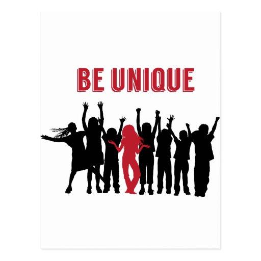 Seien Sie ist sich inspirierend einzigartig Postkarten