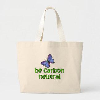 Seien Sie Kohlenstoff-neutrale Person Leinentasche