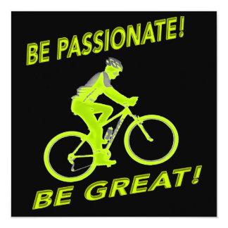 Seien Sie leidenschaftlich! Seien Sie groß! Quadratische 13,3 Cm Einladungskarte