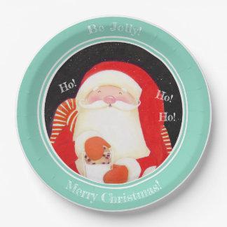 """""""Seien Sie lustig! """"Sankt-Weihnachtspapier-Teller Pappteller"""