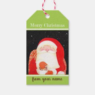 Seien Sie lustige klassische Weihnachtsumbauten Geschenkanhänger