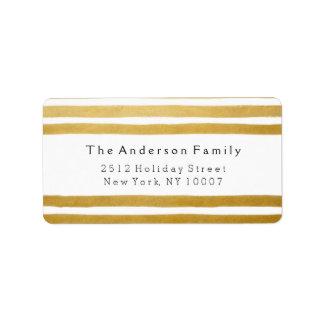Seien Sie lustiges Goldstreifen-Adressen-Etikett Adressetikett