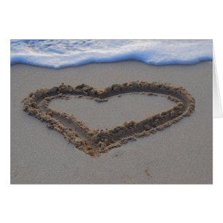 Seien Sie mein Brautjungfern-Herz im Strand-Sand Karte