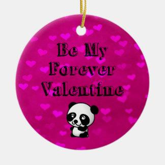 Seien Sie mein Forever-Valentinsgruß-Panda-Bär Keramik Ornament