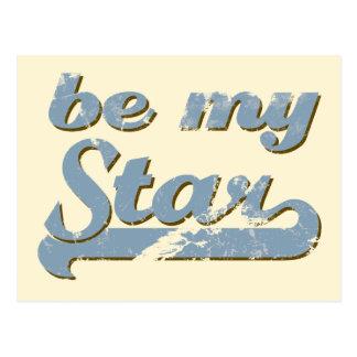 Seien Sie mein Stern Postkarte