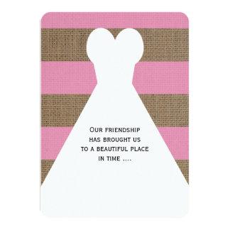 Seien Sie mein Trauzeugin-Gedicht auf Rosa 11,4 X 15,9 Cm Einladungskarte