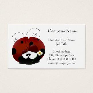 Seien Sie mein Valentine-roter Marienkäfer-Cartoon Visitenkarte