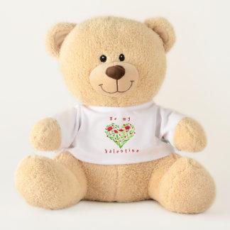 Seien Sie mein Valentinsgruß! Blumenherz-Teddybär Teddy