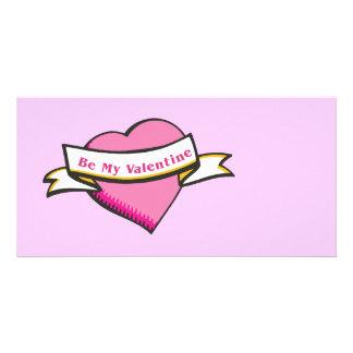 Seien Sie mein Valentinsgruß-Briefpapier Foto Karten Vorlage