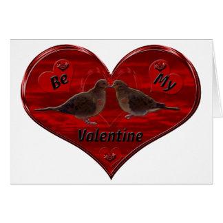 Seien Sie mein Valentinsgruß, der Tauben küsst Karte