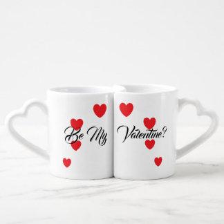 """""""Seien Sie mein Valentinsgruß? """"Die Tassen-Set des Liebestassen"""