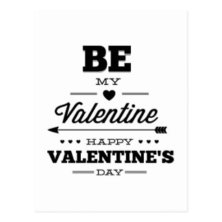 Seien Sie mein Valentinsgruß - glücklicher Postkarte