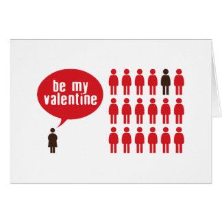 Seien Sie mein Valentinsgruß Grußkarte