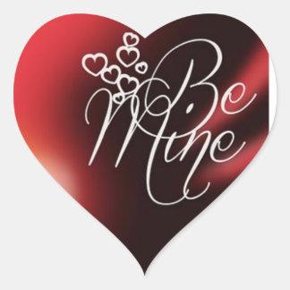 Seien Sie mein Valentinsgruß Herz-Aufkleber