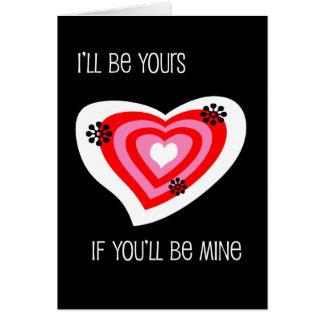 Seien Sie mein Valentinsgruß Karte
