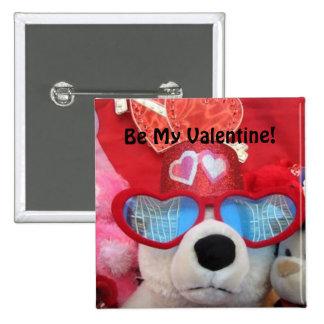 Seien Sie mein Valentinsgruß-Knopf Button