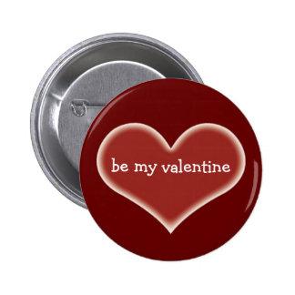 Seien Sie mein Valentinsgruß-Knopf Buttons