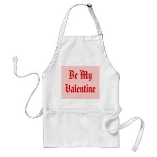 Seien Sie mein Valentinsgruß. Valentinstag. Rot un Schürzen