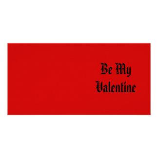 Seien Sie mein Valentinsgruß Valentinstag Rotes Photogrußkarten