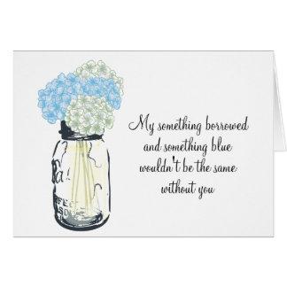 Seien Sie meine Brautjungfer - Karte