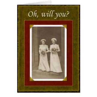 Seien Sie meine Brautjungfer? Karte