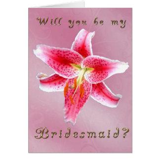 Seien Sie meine Brautjungfer Karte