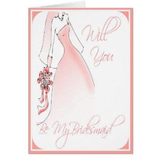 Seien Sie meine Brautjungfern-Einladung für Karte