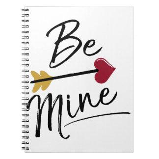 Seien Sie meine niedliche Valentines Notizblock