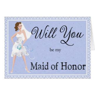 Seien Sie meine Trauzeugin-Hochzeits-Einladung Grußkarte
