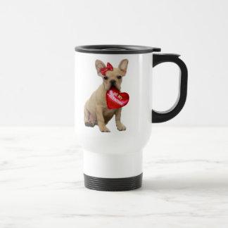 Seien Sie meine Valentine-französische Bulldoggen- Teehaferl