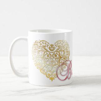 """""""Seien Sie meine! """"Valentine-Goldmit filigran Kaffeetasse"""