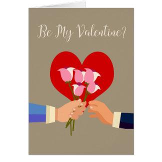 Seien Sie meine Valentine-homosexuellen Themed Grußkarte