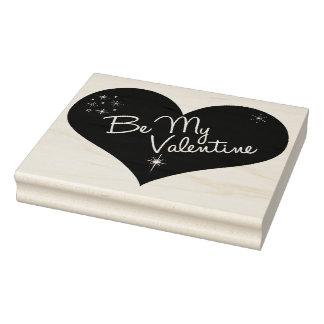 Seien Sie meine Valentine-Retro Gummistempel