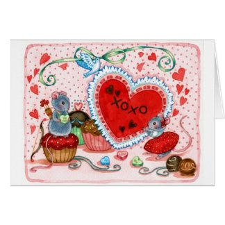 Seien Sie meine - Valentinsgruß-Mäusekarte Karte